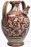 ceramic-majolica-pitcher-handle-red-doves-birds-fd-45