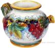 Ceramic-Majolica-Pitcher-Red-Grapes-994-27-23cm