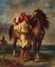 Delacroix_Eugene-Arab_Saddling_his_Horse