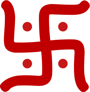 a good luck symbol in Sanskrit or Hindu belief system swastika-hindu