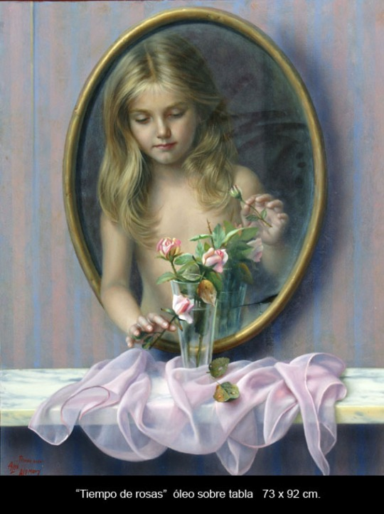 surreal-painting-by-alex-alemany_ timpul trandafirilor