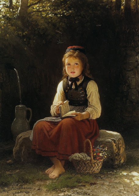 Bremen_Johann_Georg_Meyer_A_Young_Girl_At_The_Well_1876