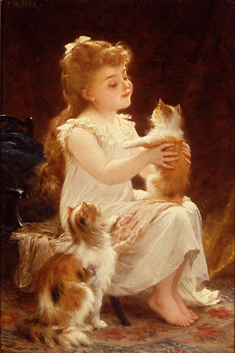 Émile Munier - Playing with the Kitten