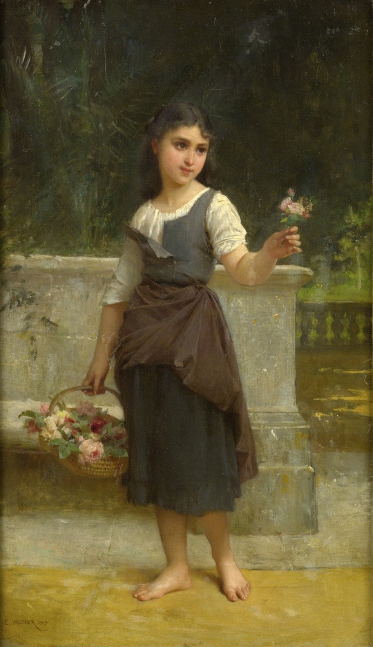 Émile_Munier_The_flower_girl_1889