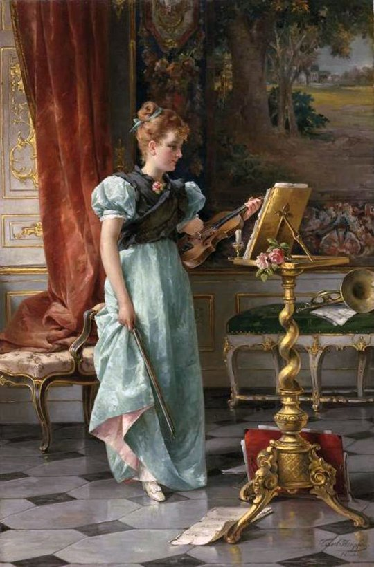 Carl Herpfer - the violin player