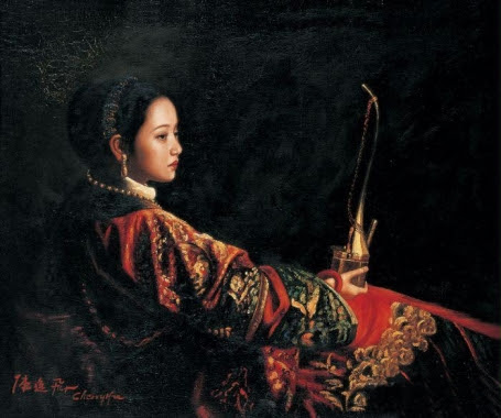 Chen Yifei 1946-2005 - Chinese Figurative painter - maher art gallery1