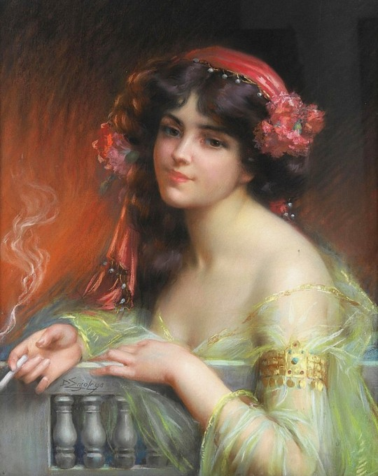 Delphin Enjolras (French Painter, 1857 - 1945) - Oriental beauty