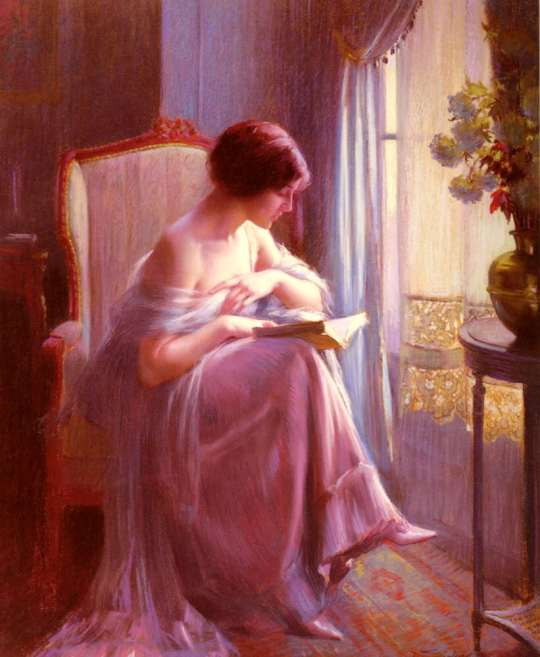 Delphin Enjolras-  Young Woman Reading By a Window