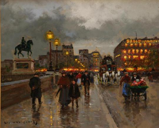 edouard-cortes-street-scene-of-the-pont-neuf