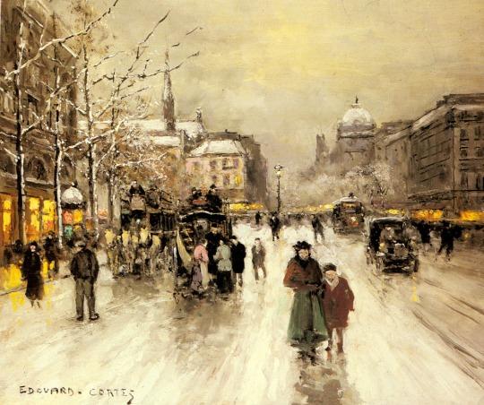 Edouard Léon - Place_st._michel_christmasjpg