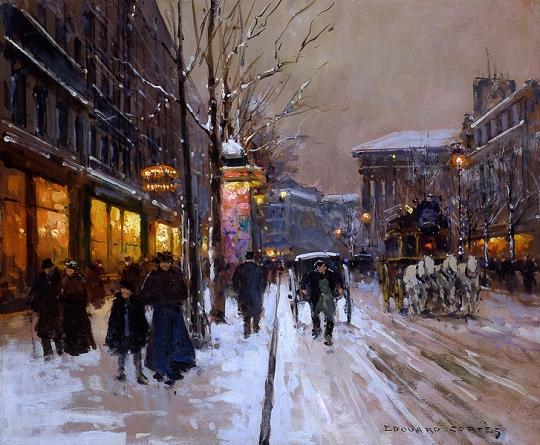 edouard_leon_cortes_boulevard_de_la_madeleine_winter