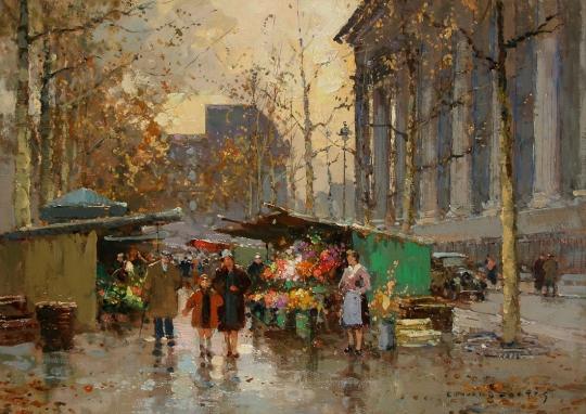 edouard_leon_cortes_flower_market_madeleine
