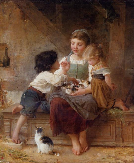 Emil Munier_1879_a_happy_family