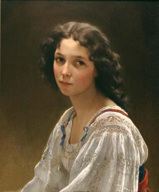 Emile Munier-Head of a young girl