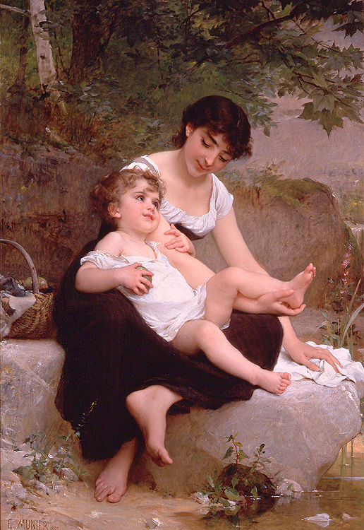 Emile Munier - Mother & child