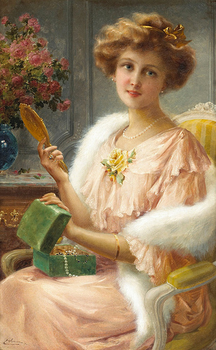 Emile Vernon - A young lady
