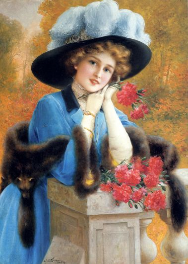 Emile-Vernon-Carnations-Are-For-Love-Oil-Painting