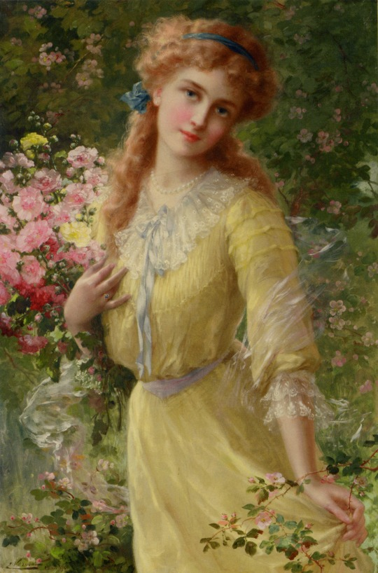 Emile Vernon - In the garden