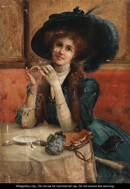 Emile Vernon - Portrait of a woman