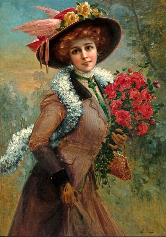 Emile Vernon - red roses