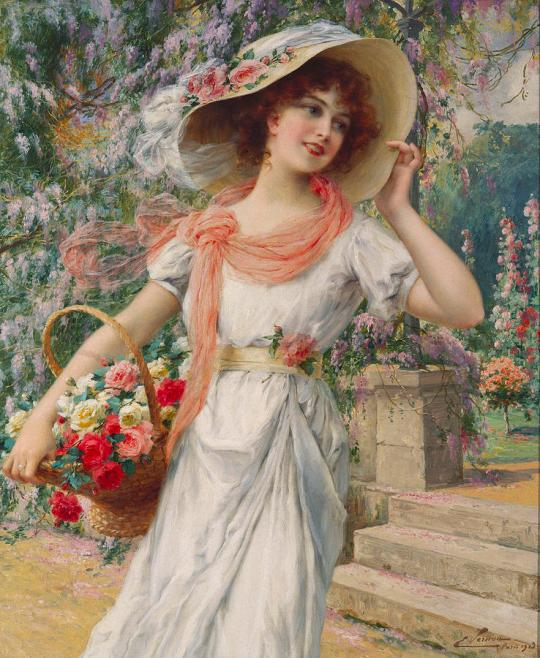 Emile Vernon - the-flower-girl