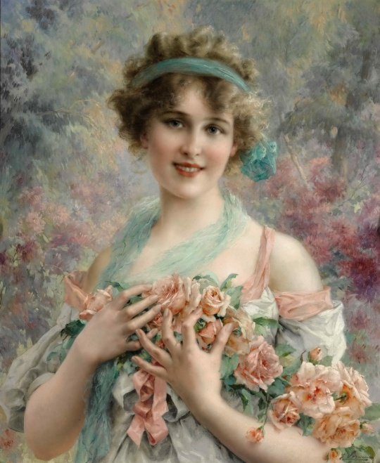 emile-vernon-the-rose-girl