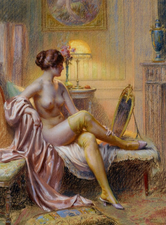 Enjolras_Delphin_La_Toilette_Pastel_on_paper_on_Canvas-huge