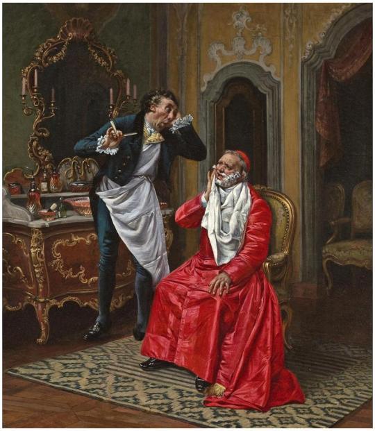 FrançoisBrunery1849-1926LeBarbierMaladroitCollect°privée