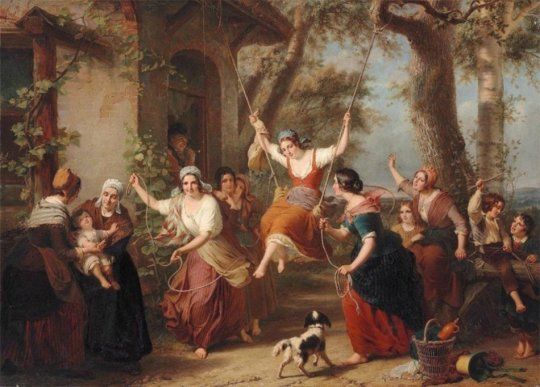 Francois Verheyden (1806-1830) The Swing