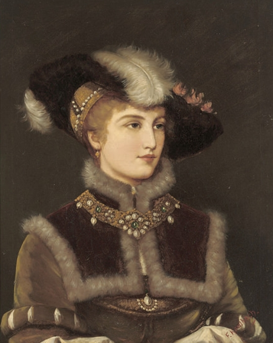 Friedrich_August_Kaulbach_Portrait_of_a_young_lady_in_a_fur_hat