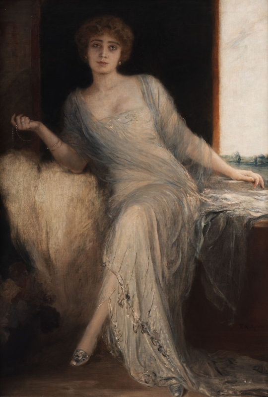 Friedrich_August_von_Kaulbach_Portrait_einer_sitzenden_Dame