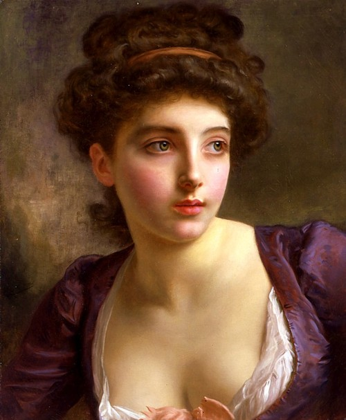 Gustave Jean Jacquet - A Court Beauty