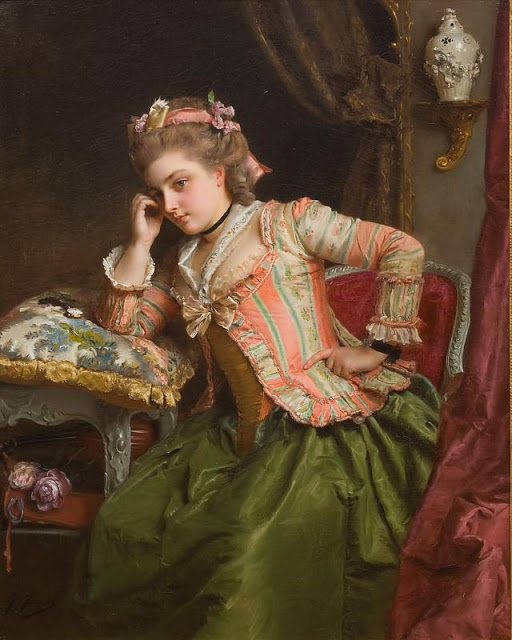 Gustave Jean Jacquet - A Pensive Moment