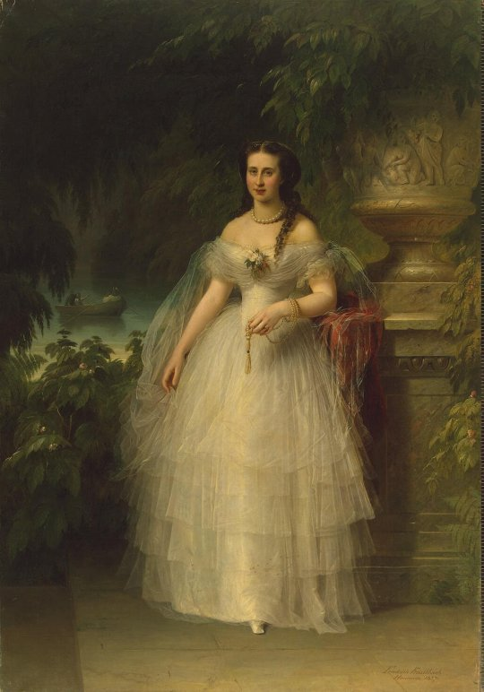 Kaulbach_Friedrich_August_von - Portrait_of_Grand_Duchess_Alexandra_Iosifovna