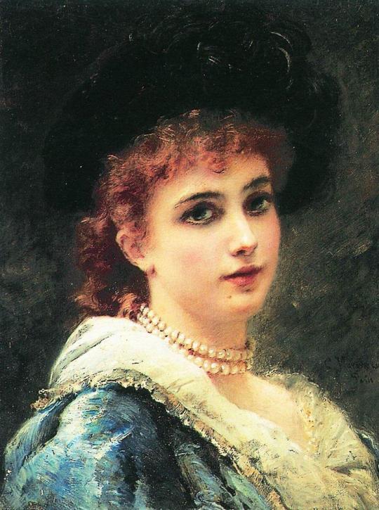 Makovski - Frumoasa parizianca, 1890