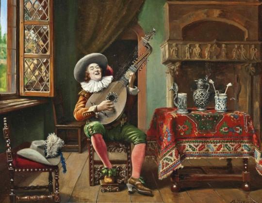Marcel Brunery (1893-1982) - The Troubadour