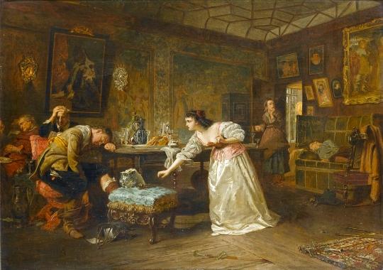 Marcus Stone - Numele acestei picturi este necunoscut, 1866