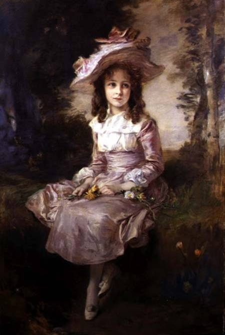 portrait-of-a-young-girl-in-a-pink-dress