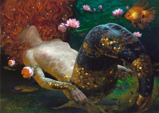 Siren song - Victor Nizovtsev 1965 - Russian Fantasy painter - 22