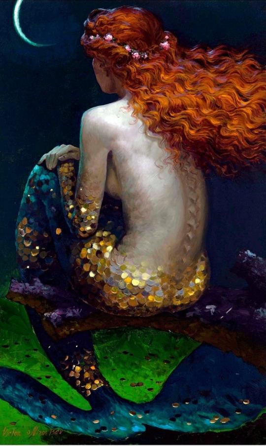 Siren song - Victor Nizovtsev 1965 - Russian Fantasy painter 24