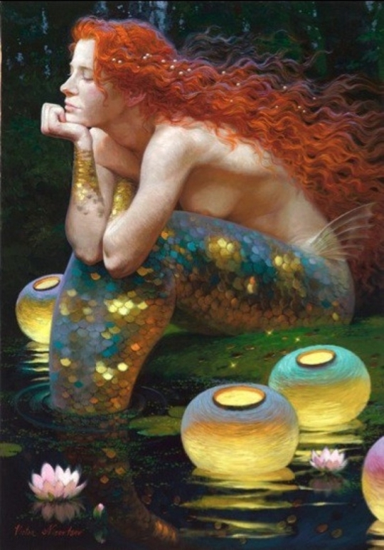 Siren song - Victor Nizovtsev 1965 - Russian Fantasy painter(20)