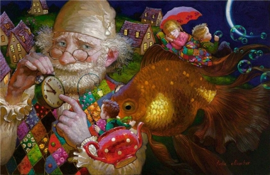 Siren song - Victor Nizovtsev 1965 - Russian Fantasy painter(22)