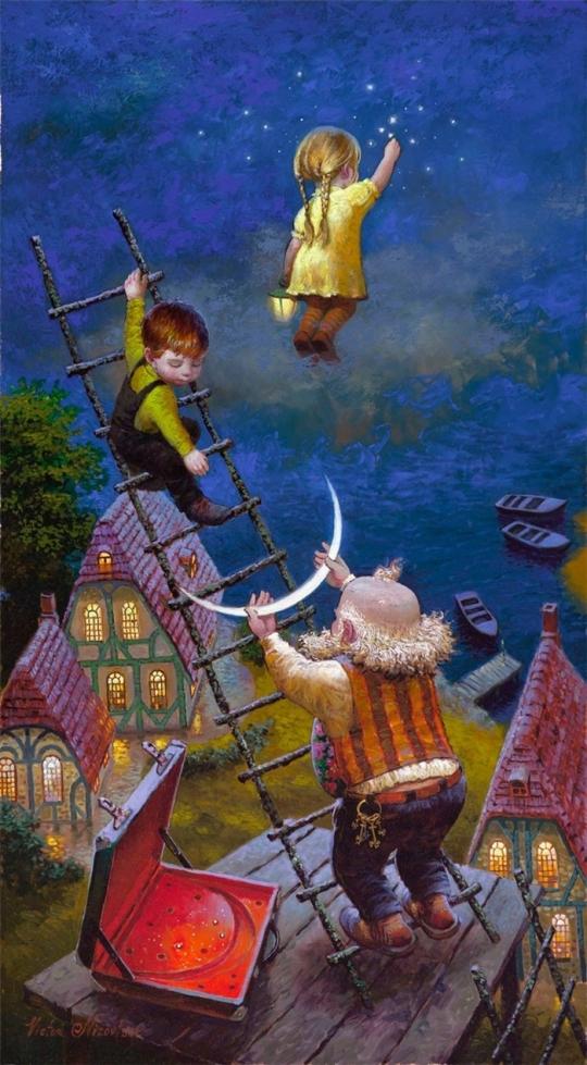 Siren song - Victor Nizovtsev 1965 - Russian Fantasy painter(24)