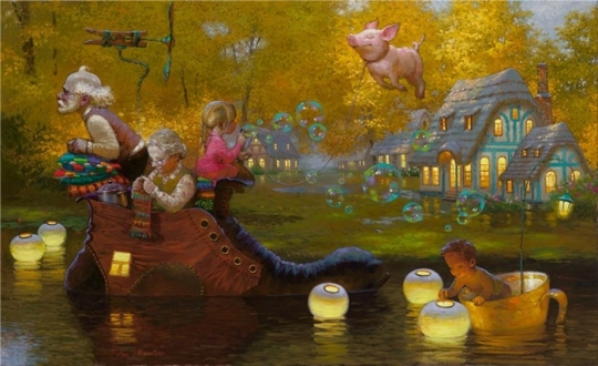 Siren song - Victor Nizovtsev 1965 - Russian Fantasy painter(28)