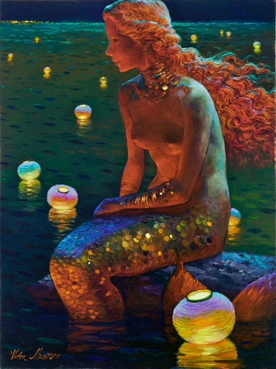 Siren song - Victor Nizovtsev 1965 - Russian Fantasy painter33