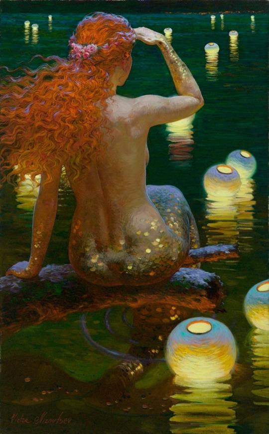 Siren song - Victor Nizovtsev 1965 - Russian Fantasy painter(8)