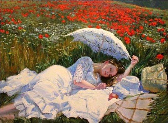 Vladimir Volegov - Dormind pe campul de maci