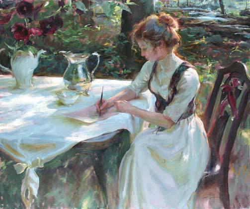 Vladimir Volegov - Femeie scriind