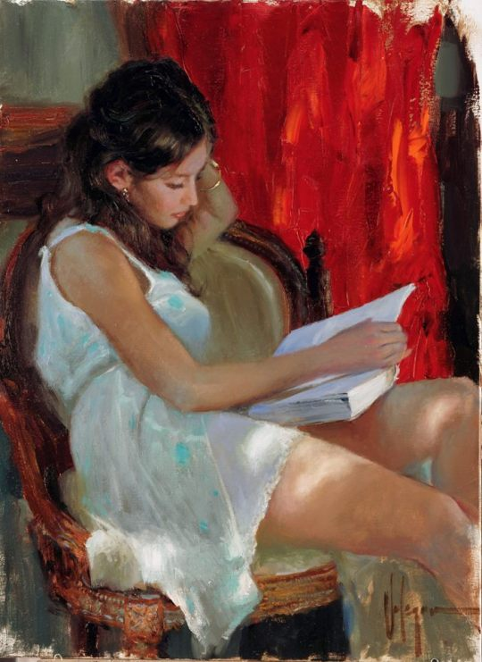 Vladimir Volegov - Reading - Russian Figurative painter