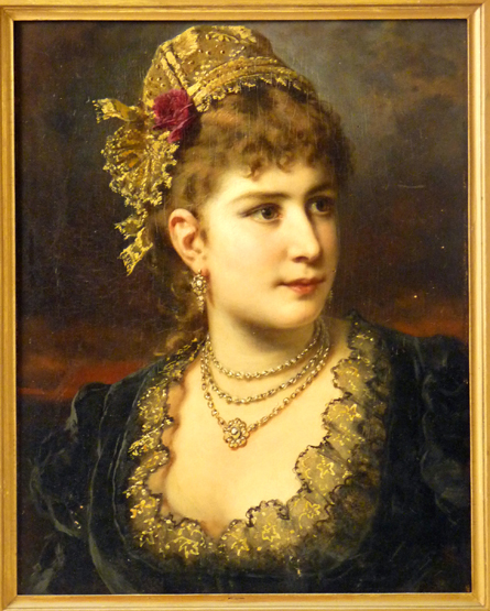 Anton Ebert - Portret of a Young Lady